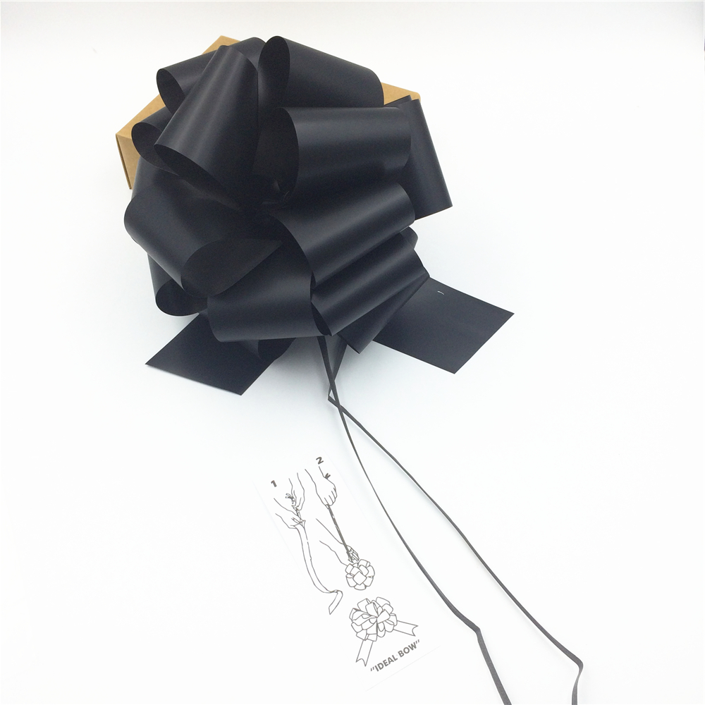 New design black Pull Bow tie ribbon for gift packing