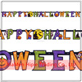 Happy Halloween Letter Banner Bunting Garland Halloween Cheap Party Decoration