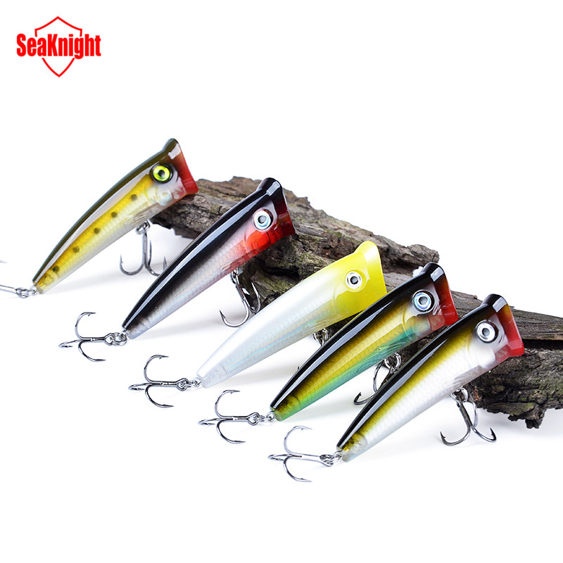 70mm 11g Topwater Artificial Fishing Bait Fishing Lures Poper Popper BKK Hooks Hard Lures