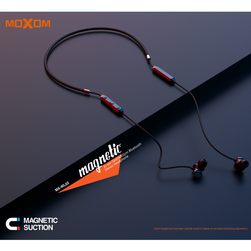 New inventions 2019 in Ear Wireless Neckband Headphones Magnetic Earbud Headphones MOXOM - idealBuds Earphone | idealBuds.net