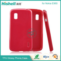 Manufacturer in China smooth glossy clear soft tpu case for Nokia E960