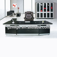 Modern Black Malamine Desk Wood Furniture