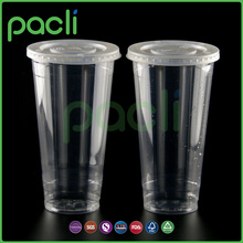 food grade plastic cup with straw and lid,printing plastic cup disposable,disposable plastic cup for juice