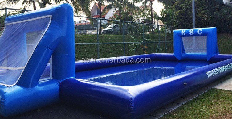 cheap inflatable soccer field/inflatable water football pitch/inflatable soap football field for sale