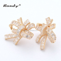 NEW Style Wholesale CZ Stone Bridal Gold Earrings Models