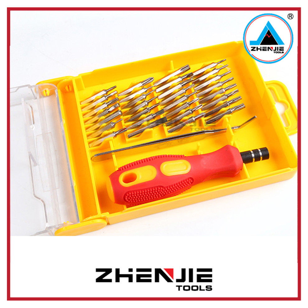 34 in 1 Chromeplate mobile phone repair tool kit