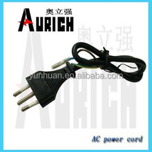 Wiring harness electric cable wire plug european Italy lamp holder 3-pin plug pin used wire and cable machine power cable