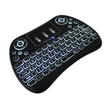 New coming colourful mini 2.4G wireless keyboard T2 Air mouse balcklit keybord mouse with touch P-A-D