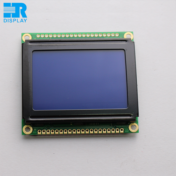 Best price 128x64 lcd display module graphic STN blue mode with white backlight ks0108 controller