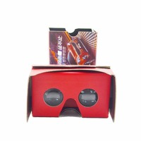 Promotional vr goggles 3D foldable disposable google cardboard V2