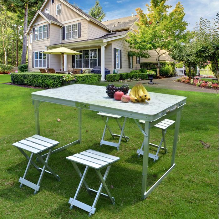 Comercio al por mayor buena calidad rect ngulo mesa de for Mesa plegable de aluminio para camping