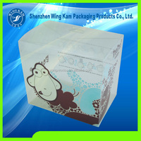 square eco-friendly positive cartoon printed foldable plastic folding clear packaging box container