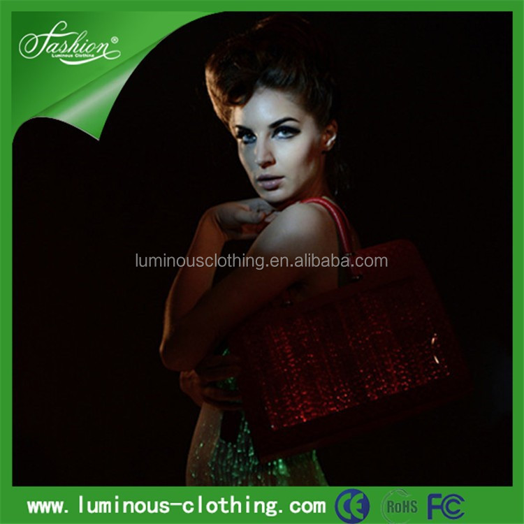 luminous illuminant ladies party favor wear bags