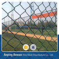 pvc coated chain link fence for road