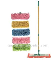 Rectangular type Mop Pad Telescopic Handle Plastic Microfiber Chenille Dust Swivel Flat Mop