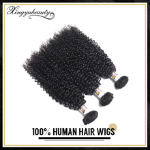 OEM supplied virgin hair, curly hair extension, nature girl hair weave