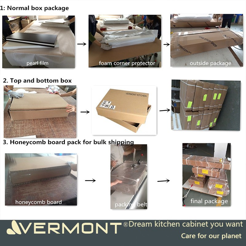 2017 Vermont Fast Supplier Home Chipboard/MDF Melamine Modular Kitchen