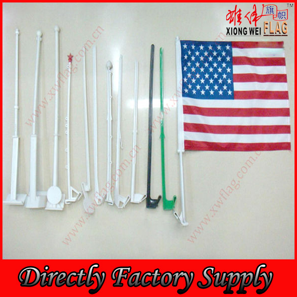 Custom Logo American Car Flag With Plastic Pole (VCF1034)
