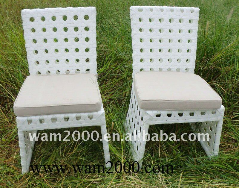garden rattan circle weaving armless chair for outdoor