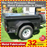 2014 new model professional flat pack motorcycle camping trailers
