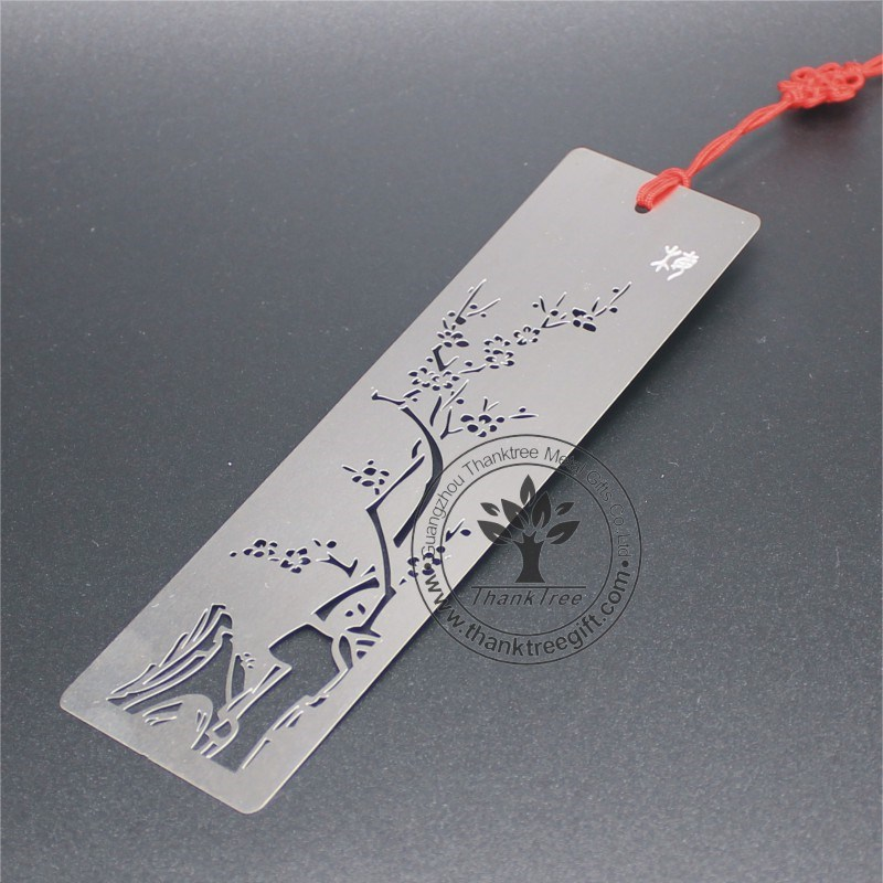 cut-out stainless steel bookmarks <strong>metal</strong> with custom logo