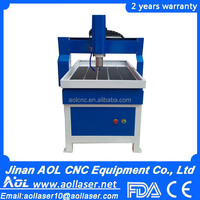 AOL 6090 hot sale cheap small automatic 3d wood carving cutting cnc router lathe