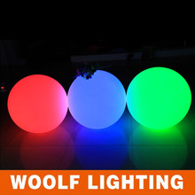 waterproof IP68 led glow swimming pool ball