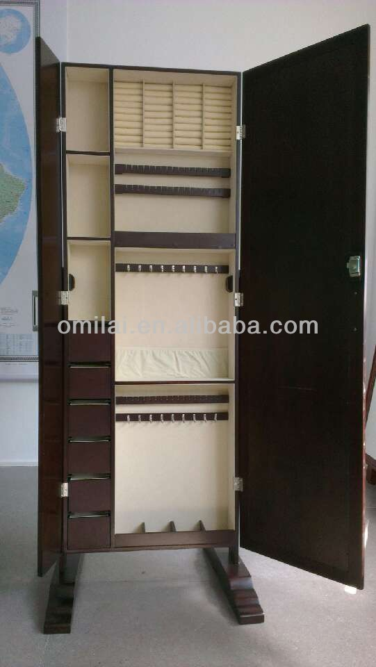 standing full length dressing mirror with drawer