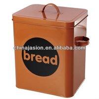 Square Bread Bin Manufacturer / Coffee / Colorful Bread Metal Storage tin box