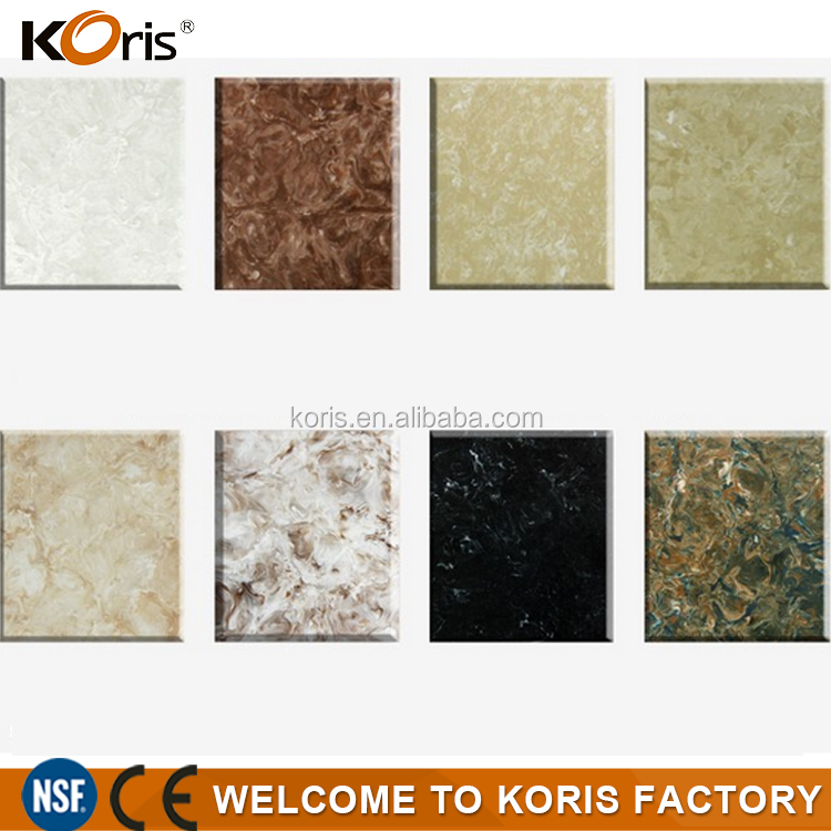 2016 koris solid surface material/ china artificial stone marble