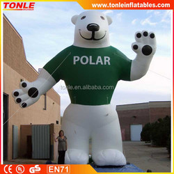 customized giant inflatable polar bear for sale