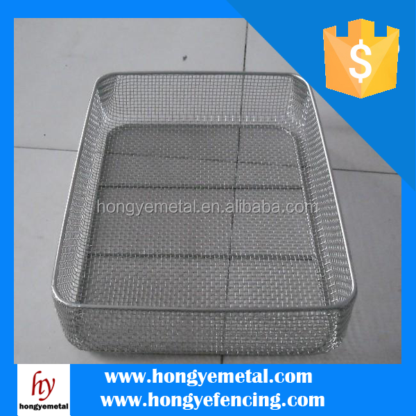 Durable SS mesh folding Laundry Basket