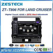 For toyota land cruiser car dvd gps multimedia player with DVD/Radio/GPS/Bluetooth/3G/SD/USB/SWC