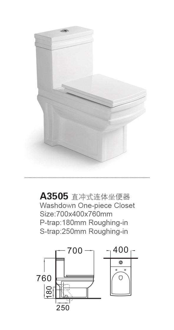 A3505 europe style wholesale big bathroom ceramic toilet pots