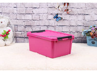 8.5L small plastic storage trunk kids carrying case with handle