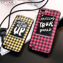 CITYCASE Classic Plaid Series Phone Case For IPhone 7 Well Match Plaid Shirt Mobile Phone Case For Apple iPhone 7Plus