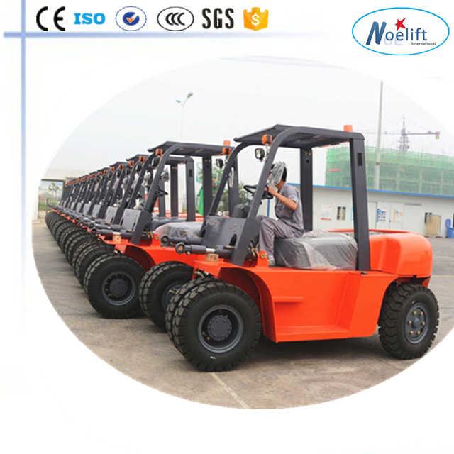 tobacco machinery paper roll clamp 7t diesel forklift Hydraulic with best Japan diesel engine