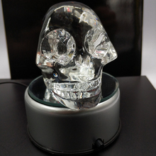 Pujiang handmade clear crystal skull for sale