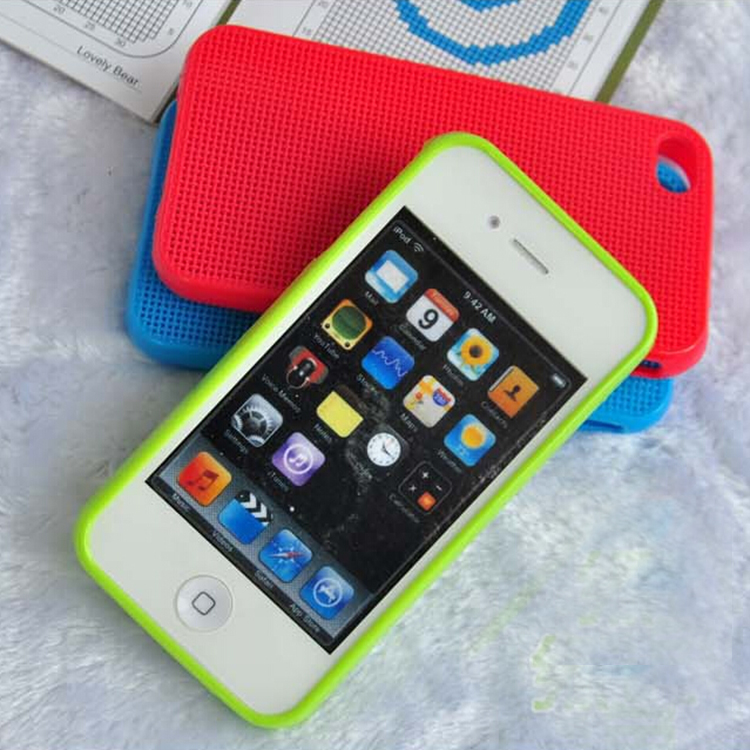DFIFAN High quality dot view fancy case for iphone 5s ,Diy cross stitch phone case for apple iphone 5