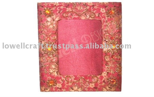 embroided BEADED PHOTO FRAME