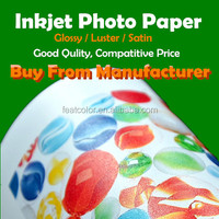 Factory supply Cheap photo paper Inkjet Printing Glossy Paper Photo A4 A3 Roll size