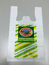 HDPE &LDPE PLASTIC biodegradable t shirt shopping bags
