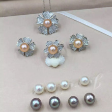 wholesale original pearl sets, sterling silver fittings