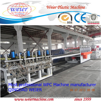 Three Layers Co-extrusion WPC Foamed Board Manufacturing Line