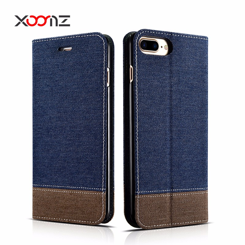 XOOMZ Universal Stand Flip Cover Folio Mobile Wallet Case for iPhone 7 7 plus
