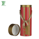 Custom Printed Paper Round Cylinder Single Bottle Hot Wine Gift Packing Box
