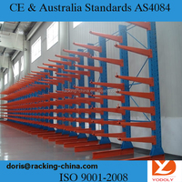 Long-shaped timber or metal use heavy duty storage cantilever rack