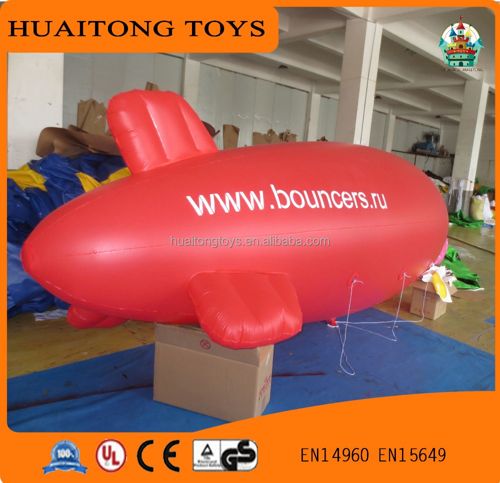 hot sale red inflatable helium airplane balloon,inflatable airship,advertising for sale