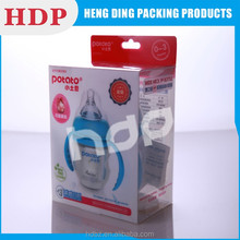 logo printed foldable clear plastic box with handle