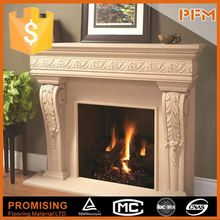 polished surface decorative water heating pellet fireplace